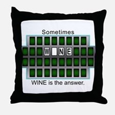 Funny Wheel of answers Throw Pillow