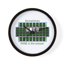 Cute Wheel of answers Wall Clock