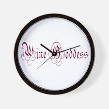 WineGoddessPurple.png Wall Clock