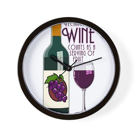 WineFruitServing.png Wall Clock