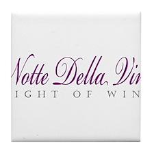 Notte Della Vino Tile Coaster