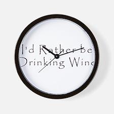 IdRatherBeDrinkingWine.png Wall Clock