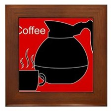 iCoffee Red Framed Tile