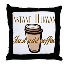 Cute Morning brew Throw Pillow