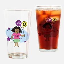 8th Birthday Drinking Glass