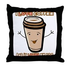 Unique Morning brew Throw Pillow