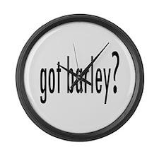 GotBarley.png Large Wall Clock