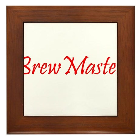 BrewMasterFilledRed.png Framed Tile