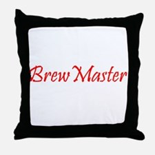 BrewMasterFilledRed.png Throw Pillow