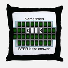Unique Wheel of answers Throw Pillow