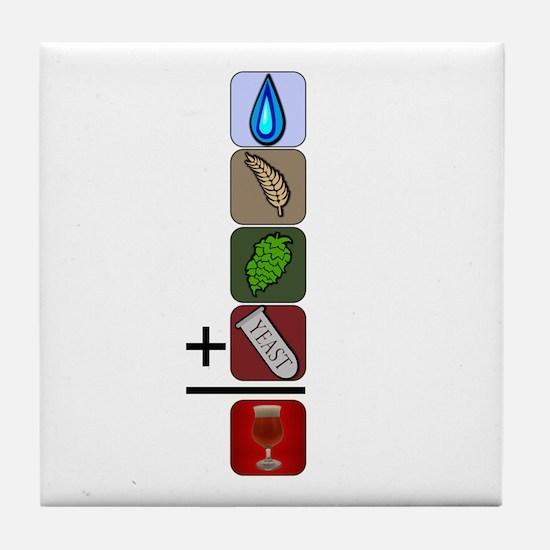 BeerFormulaBlack Tile Coaster