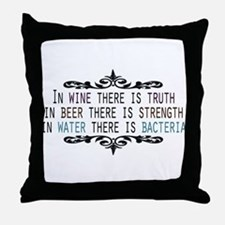 WineTruthBeerStrength.png Throw Pillow