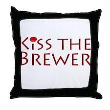 KissTheBrewer.png Throw Pillow