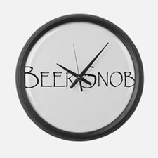 BeerSnobCP.png Large Wall Clock