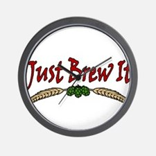 JustBrewIt-White Wall Clock