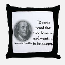 BenFranklinCPBlack.png Throw Pillow