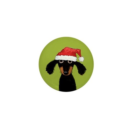 Doxie Clause Mini Button (10 pack)