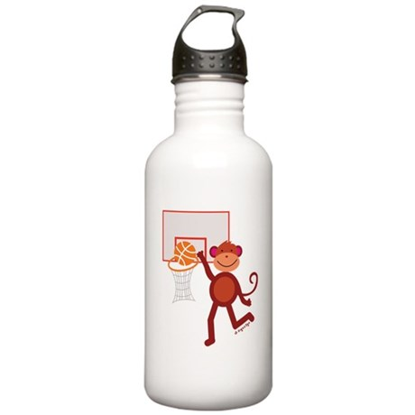 Monkey at Basketball Stainless Water Bottle 1.0L