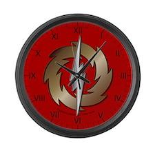 Thunder Wheel Large Wall Clock
