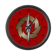 Thunder Wheel Large Wall Clock