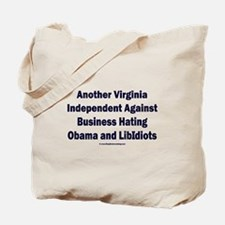 Virginia Independent Against Obama Tote Bag