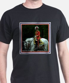 Colonel of the Queen's Guard Black T-Shirt
