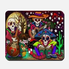 Day of the Dead Music art by Julie Oakes Mousepad