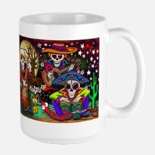 Day of the Dead Music art by Julie Oakes Coffee Mug