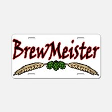 BrewMeister.png Aluminum License Plate