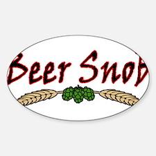 BeerSnob2.png Sticker (Oval)