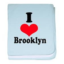 I Heart Brooklyn 1 baby blanket