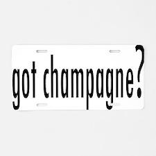 gotChampagne.png Aluminum License Plate