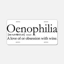 Oenophilia Aluminum License Plate