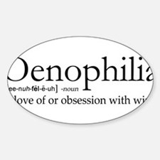 Oenophilia Sticker (Oval)