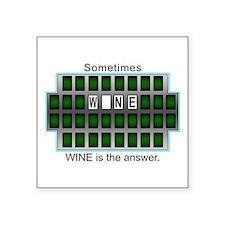 """Cute The wheel of fortune Square Sticker 3"""" x 3"""""""