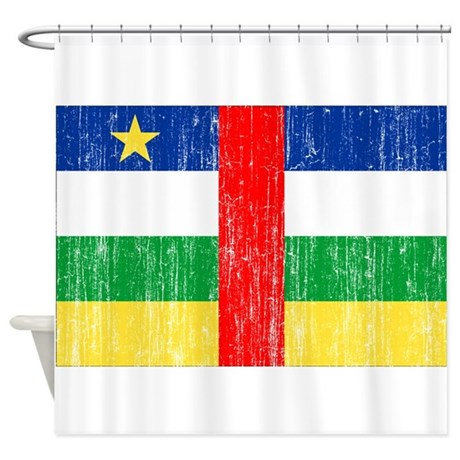 Central African Republic Flag Shower Curtain