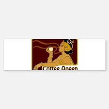 Nouveau Coffee Queen Sticker (Bumper)