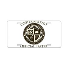 Official Coffee Taster Aluminum License Plate