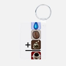 Coffee Formula Aluminum Photo Keychain