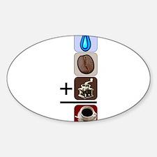 Coffee Formula Sticker (Oval)