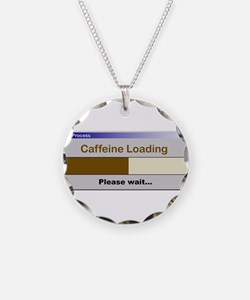 CaffeineLoading.PNG Necklace Circle Charm