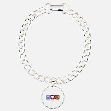 PeaceLoveCoffee-Sideways.PNG Bracelet