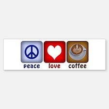 PeaceLoveCoffee-Sideways.PNG Sticker (Bumper)