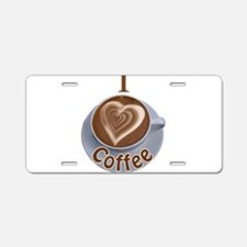 ILoveCoffeeCup.PNG Aluminum License Plate