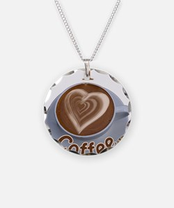 ILoveCoffeeCup.PNG Necklace Circle Charm