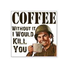 """CoffeeKill.png Square Sticker 3"""" x 3"""""""