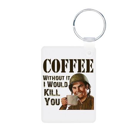 CoffeeKill.png Aluminum Photo Keychain