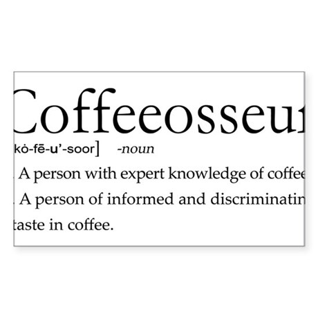 Coffeeosseur.PNG Sticker (Rectangle)
