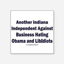"""Indiana Independent Square Sticker 3"""" x 3"""""""