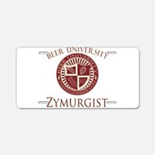BeerU-Zymurgist.png Aluminum License Plate